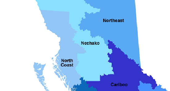 Northern BC map